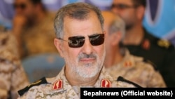 Iranian Brigadier-General Mohammad Pakpour greeted the guards on their return home. (file photo)