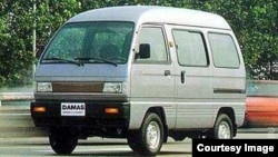 """Өзбекстанда чыгарылган """"Дамас"""" автоунаасы."""