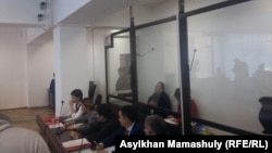 На судебном заседании по делу о предполагаемых хищениях денежных средств, выделенных на создание фильма «Феникс». Алматы, 9 марта 2017 года.
