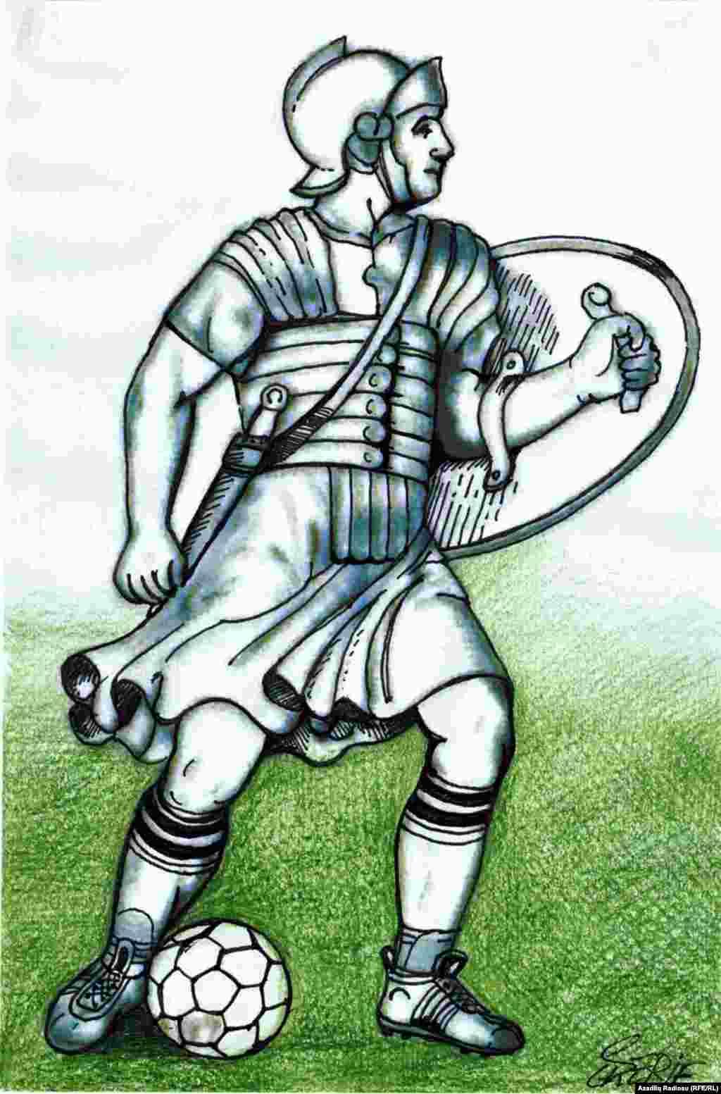 Futbolçu-Qladiator (Rəssam Şerif)