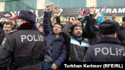 Dindarların Təhsil Nazirliyi qarşısında aksiyası - 2010