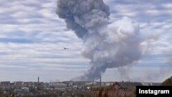 Пожар на Донецком заводе лакокрасочных материалов