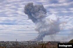 Пожежа на хімічному заводі в Донецьку, 20 вересня 2014 року