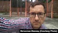 Организатор митинга Вячеслав Иванец на площадке предложенной мэрией Ангарска