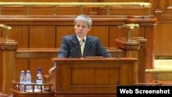 Premierul Dacian Cioloș în Parlament