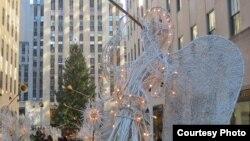Рождественская елка в Рокфеллер-Центре (фото: Александр Генис)