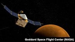 Maven наближається до Марса (зображення проекту)