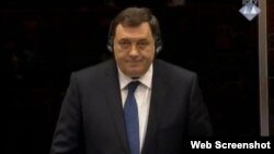 Milorad Dodik na suđenju Karadžiću, 9. travanj 2013.