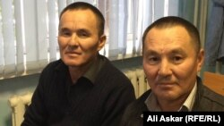 Kazakh plumber Samat Kozhaniyazov (right) and his brother Sanat (left) say they only found out they'd been included on a government terror list when they received phone calls from anxious relatives.