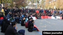 Tuesday, December 5 protests in Iran universities.
