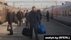 Москвадагы кыргыз мигранттары, Казан вокзалы.