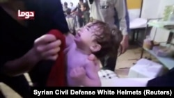 После химической атаки в Думе, 8 апреля 2018 года