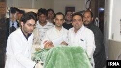 علی دایی در بیمارستان کاشان