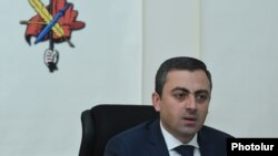 Armenia -- Dashnaktsutyun leader Ishkhan Saghatelian at a news conference in Yerevan, April 30, 2019.