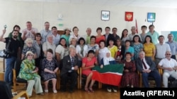 """Тубыл шәһәрендә узган """"Искернең тарихи язмышы"""" дип аталган фәнни-гамәли конференциядә катнашучылар. 5 август 2016"""