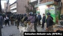 Бишкек во время разгона митинга