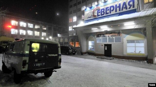 "Главный вход на шахту ""Северная"""
