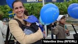 O sărbătoare pro-europeană la Chișinău