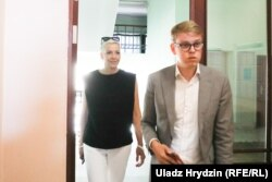 Прадстаўніца аб'яднанага штабу Марыя Калесьнікава прыехала на суд над Кірылам Галанавым і Уладзіславам Сакалоўскім