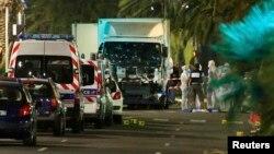 სატვირთო მანქანა, რომლითაც ნიცაში ტერორისტული აქტი განახორციელეს
