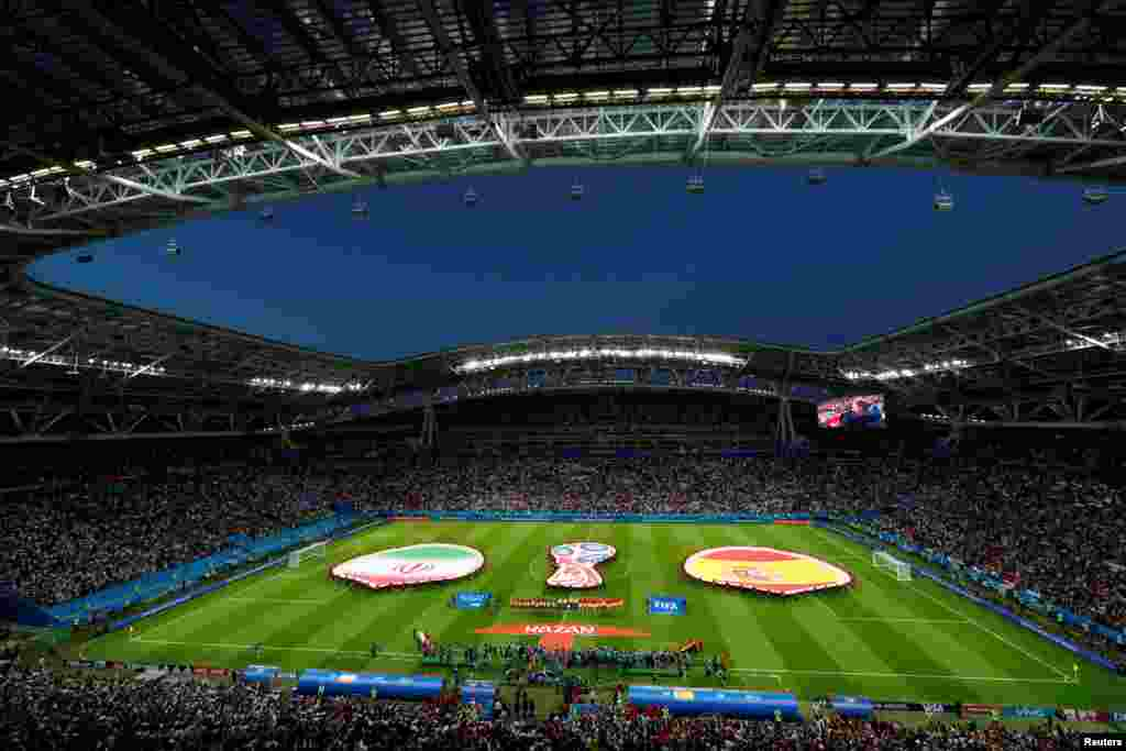 Soccer Football - World Cup - Group B - Iran vs Spain - Kazan Arena, Kazan, Russia - June 20, 2018 General view before the match REUTERS/John Sibley