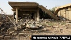 Pamje pas një shpërthimi të mëhershëm në qytetin Mosul në Irak