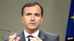 فرانکو فراتينی، وزير خارجه ايتاليا می گوید: کشورهای اروپایی باید به اظهارات رهبر جمهوری اسلامی درباره ادامه ادامه برنامه غنی سازی اورانیوم، پاسخی «جدی» بدهند. (عکس از : AFP)