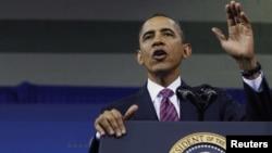 Президент США Барак Обама. США, 1 февраля 2012 года.