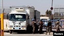 Миротворці ООН на КПП «Аль-Кунейтра», 11 червня 2013 року. Австрійців серед них уже немає