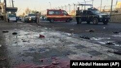 На месте взрыв в Багдаде.