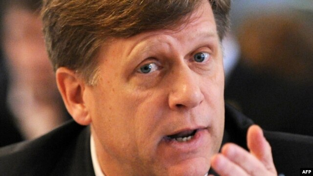 U.S. Ambassador to Russia Michael McFaul refused to comment on the reports.