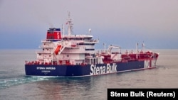 Undated handout photograph shows the Stena Impero, a British-flagged vessel owned by Stena Bulk, at an undisclosed location, obtained by Reuters on July 19, 2019.