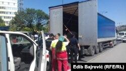 Spašavanje migranta iz prikolice kamiona, Sarajevo 3. juli 2020.