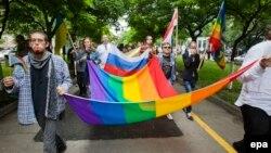 Гей-парад в Кишиневе в мае 2014 года. Иллюстративое фото.