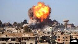 Взрыв бомбы в городе Дара, Сирия (архивное фото)
