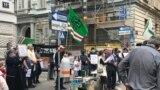 Austria, Vienna, protest rally after the murder of Mamikhan Umarov (Anzor of Vienna)