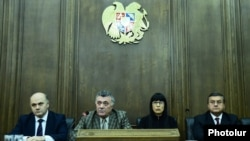 Armenia - Senior opposition lawmakers hold a news conference, Yerevan, 16Dec2014.