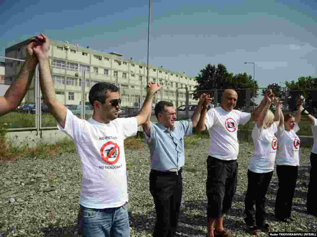 ჟურნალისტთა სოლიდარობის აქცია. თბილისი, 18 ივლისი, 2011