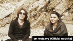 گلرخ ایرایی و همسرش آرش صادقی