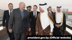Аляксандар Лукашэнка падчас афіцыйнага візыту ў Катар. 30 кастрычніка 2016 году.