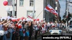 Адна з акцый пратэсту ў Віцебску