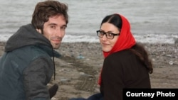 File photo: Arash Sadeghi and his wife, Golrokh Iraee.