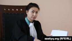 Судья апелляционной коллегии по уголовным делам суда Астаны Алма Есимова.