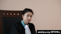 Судья апелляционной коллегии по уголовным делам суда Астаны Алма Есимова. Астана, 10 декабря 2014 года.