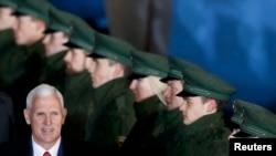 Vicepreședintele american Mike Pence la sosirea la München