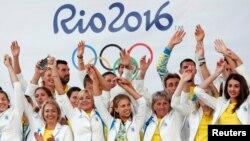 На церемонії проводів Олімпійської збірної України на Олімпійські ігри в Ріо-де-Жанейро. Київ, 23 липня 2016 року (ілюстраційне фото)