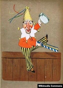 Мюнхенский Касперль. Книжная иллюстрация. 1867 год