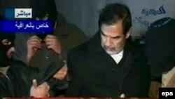 صدام لحظاتی قبل از اعدام