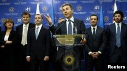 Бідзіна Іванішвілі у жовтні 2012 року презентує новий уряд Грузії