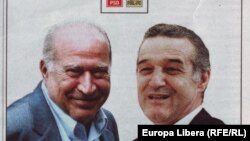 Dan Voiculescu și George Becali, afiș electoral, noiembrie 2012